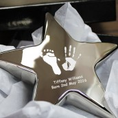 Personalised Imprint Silver Star Paperweight