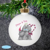 Personalised 'Me to You' Couple's Christmas Bauble