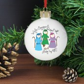 Personalised Nativity Shepherds Bauble