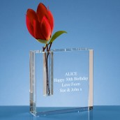 Personalised Crystal Square Bud Vase
