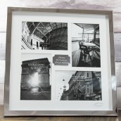 Engraved Silver 4 Aperture Photo Frame