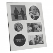 Engraved Silver 6 Aperture Photo Frame