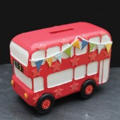 Pesonalised Bus Money Box