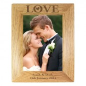Love Engraved Photo Frame
