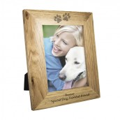 Cat Or Dog Personalised Wooden Photo Frame