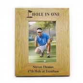 Personalised Golf Wooden Photo Frame