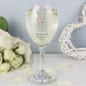 Personalised Wedding Party Wine Glass