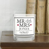 Personalised Mr and Mrs Candle In A Jar