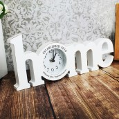 Personalised Home White Wooden Clock