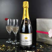 Personalised Elegant Label Champagne Bottle Gift