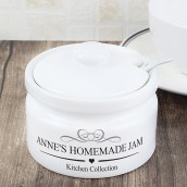 Personalised Contemporary Ceramic Preserve Pot