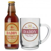 Personalised Luxury Beer and Glass Tankard Set