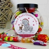 Personalised Me To You Christmas Reindeer Design Sweet Jar