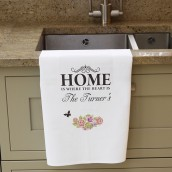 Personalised Shabby Chic Design Tea Towel