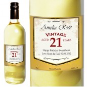 Personalised Age Birthday White Wine