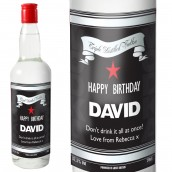 Personalised Classic Black & Silver Vodka Bottle Gift