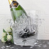 Personalised Glass Number Occasion Ice Bucket
