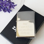 Engraved Polished Chrone Zippo Lighter