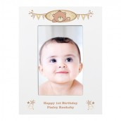 Teddy Design Engraved Photo Frame