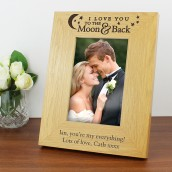 Engraved I Love You To The Moon Photo Frame