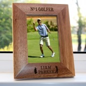 Personalised No 1 Golfer Photo Frame