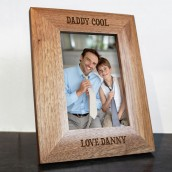 Personalised Daddy Cool Wooden Photo Frame