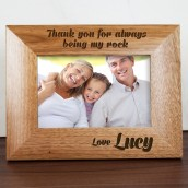 Personalised Dad Your My Rock Photo Frame