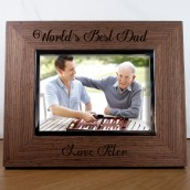 Personalised World's Best Dad Photo Frame