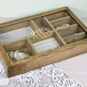 Personalised Wooden Monogrammed Jewellery Box