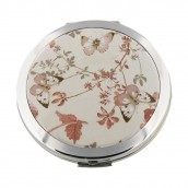 Engraved Luxury Butterfly Compact Mirror