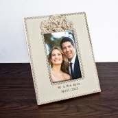 Personalised Vintage Rose Design Wooden Photo Frame