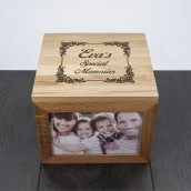 Personalised Vintage Design Oak Keepsake Box