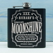 Personalised Moonshine Hip Flask