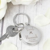 Personalised Wedding Role Photo Locket Keyring