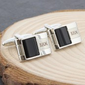 Engraved Onyx Cufflinks