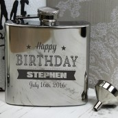 Personalised Birthday Hip Flask