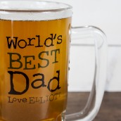 World's Best Dad Engraved Tankard
