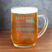Engraved Pint Tankard, He is…Design