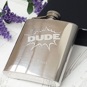 Engraved Exploding Name Hip Flask