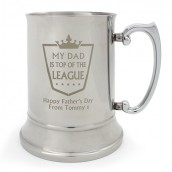 Personalised Steel Tankard, Top of the League