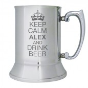 Keep Calm Engraved Beer Tankard