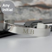 Engraved Initial Classic Bangle