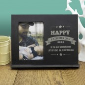 Personalised Slate Photo Frame - Fathers Day