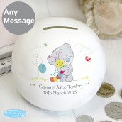 Tiny Tatty Teddy Cuddle Bug Personalised Money Box