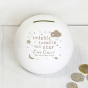 Twinkle Twinkle Personalised Money Box