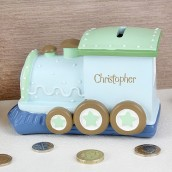 Personalised Choo Choo Money Box Train
