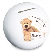 Personalised Teddy Bear Money Box