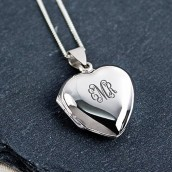 Vintage Personalised Monogrammed Heart Locket
