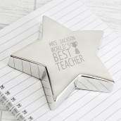 Best Teacher Engraved Paperweight