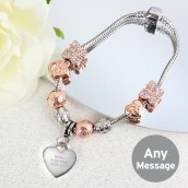 Personalised Rose Gold Charm Bracelet